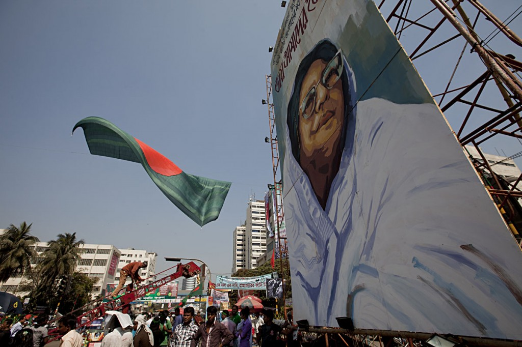 Portrait of Jahanara Imam at Shahbagh Square, who led the campaign for the trial of war criminals. Photo: Shahidul Alam/Drik/Majority World