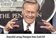 Rumsfeld saving Pentagon copy