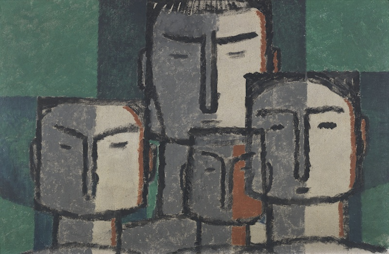 Generations 1957. Oil on canvas. 43 cm x 68.5cm. Bangladesh National Museum collection