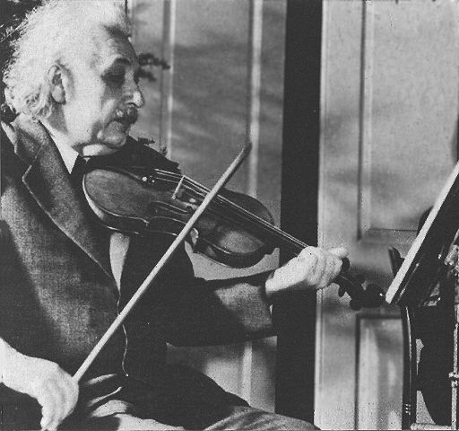 einstein with violin