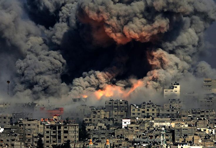 Gaza being bombed on 30th July 2014