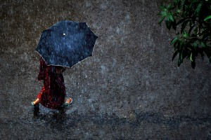 A walk in the rain. Photo: Shovon Mahbub