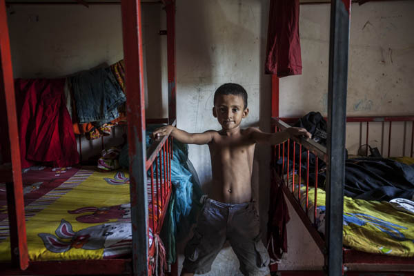 The new bunk beds. Photo: Shahidul Alam/Drik/Majority World