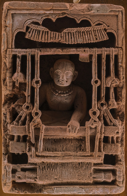 Rare depiction of terracotta weaver. Terracotta art was at its peak from 4th - 8th century. Courtesy of Ruby Ghuznavi, Dhaka. Bangladesh. Photo: Shahidul Alam/Drik/Majority World