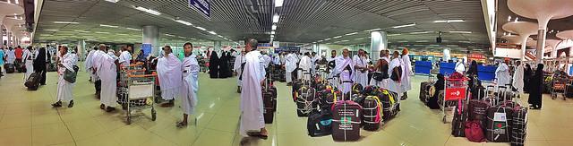 Hajj passengers at Shahjalal Airport. Photo: Shahidul Alam/Drik/Majority World
